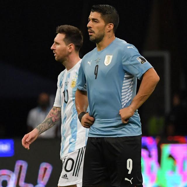 Jugadores de Argentina y Uruguay