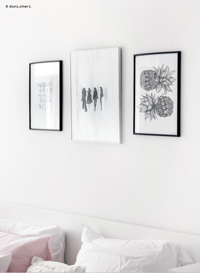 bilder aquarell gemalt weiss schwarz