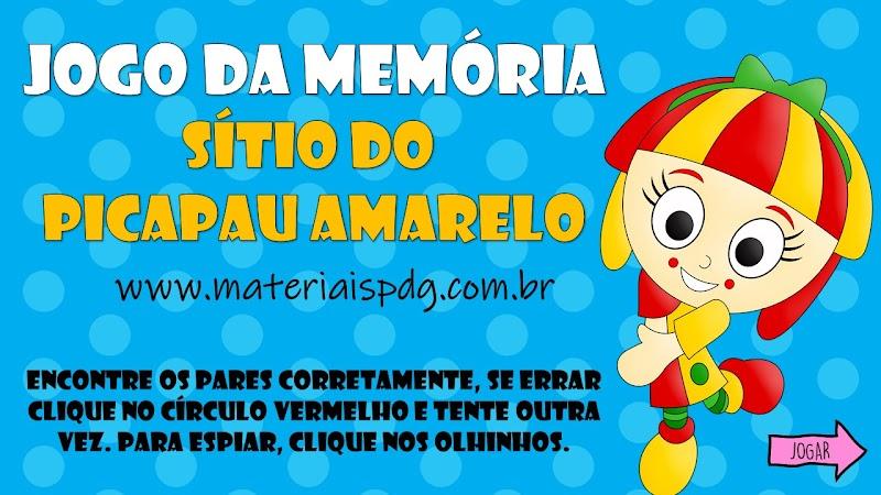 JOGO DA MEMÓRIA INTERATIVO - SÍTIO DO PICAPAU AMARELO
