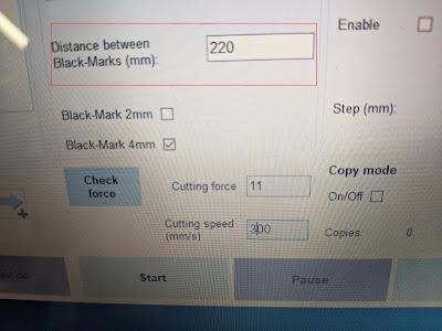 Enter Blackmark Distance