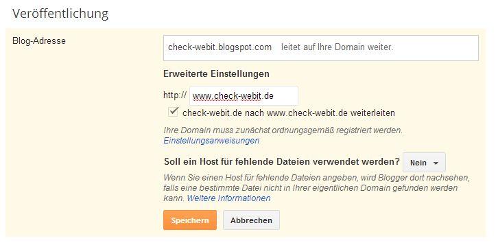 Check Webit Weiterleitung Von Meinem Google Blog Blogspot Zu Meiner