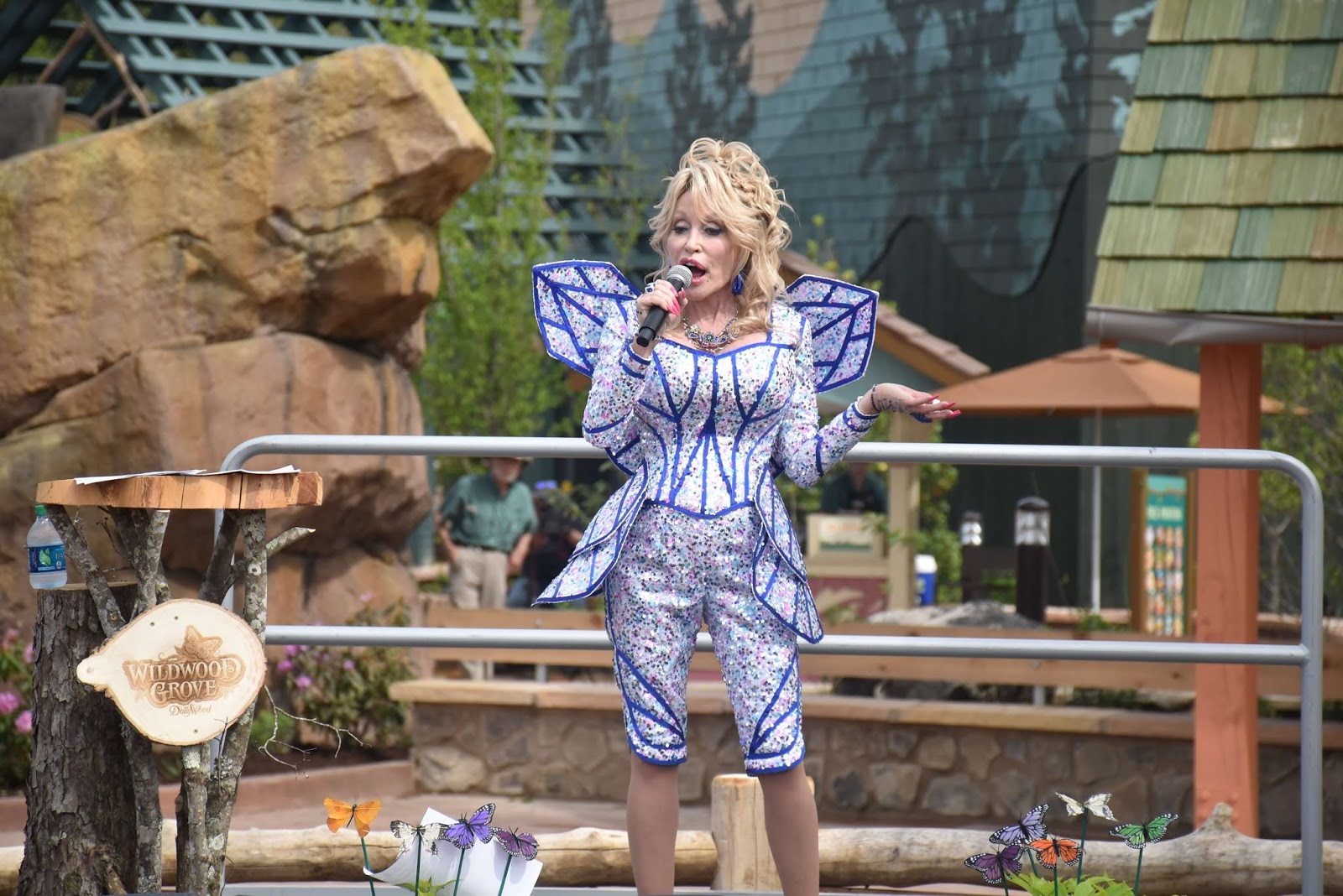 Dolly Parton at Wildwood Grove in Dollywood