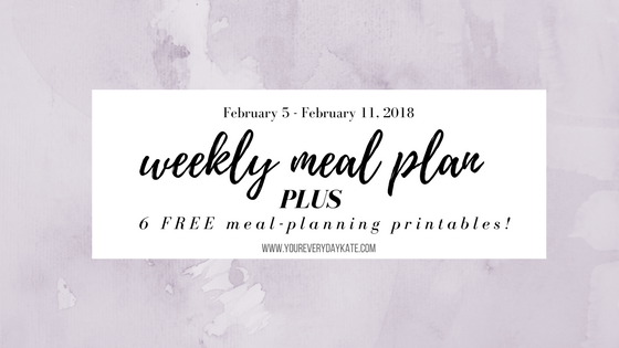 free organization resource meal planning weekly meal plan