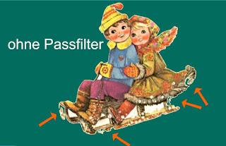 ohne Passfiler abgelöstes Bild mit Fehlern