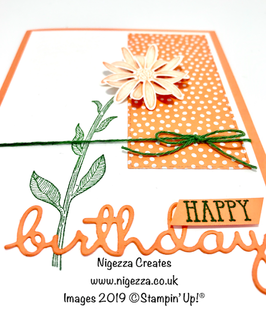 Nigezza Creates, Stampin' Up! Daisy Lane, Well Said