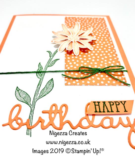 Nigezza Creates, Stampin' Up! Daisy Lane, Well Said