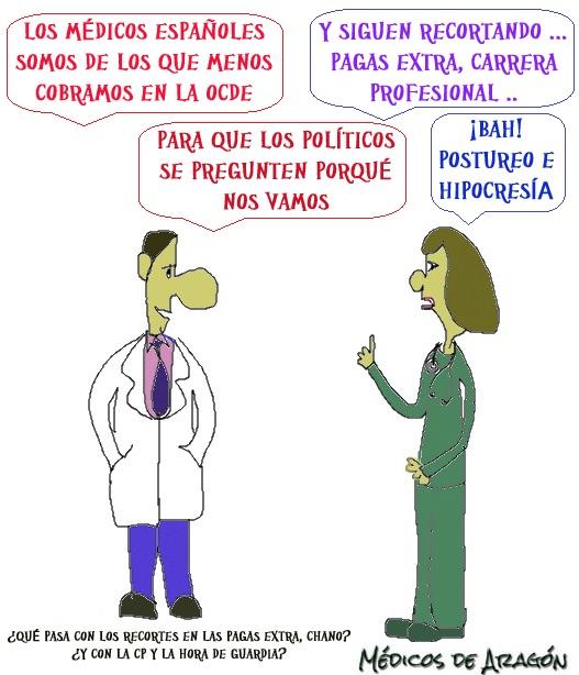LOS MÉDICOS ESPAÑOLES, ENTRE LOS QUE MENOS COBRAN DE LA OCDE