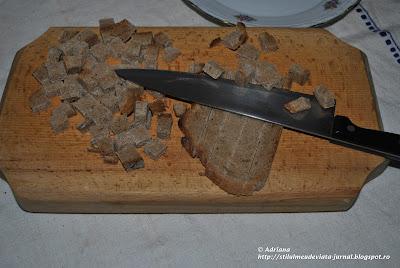 crutoane din paine de secara