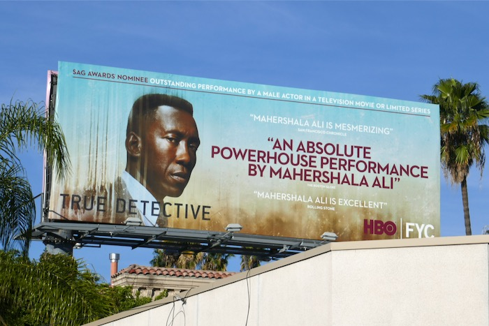 Mahershala Ali True Detective SAG Awards billboard