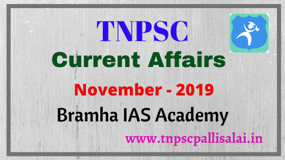 November 2019 Current Affairs day by day study material