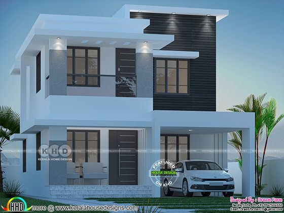 4 bedroom 1835 sq.ft  modern home design