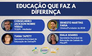 """Oeiras participa de live """"Educação que faz a diferença"""" promovida pelo TCE-PI"""