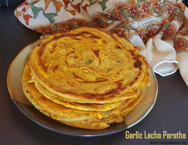 images of Garlic Paratha / Garlic Lacha Paratha / Garlic Lachha Paratha / Lachha Paratha