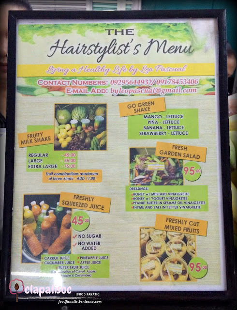 Hairstylist's Menu