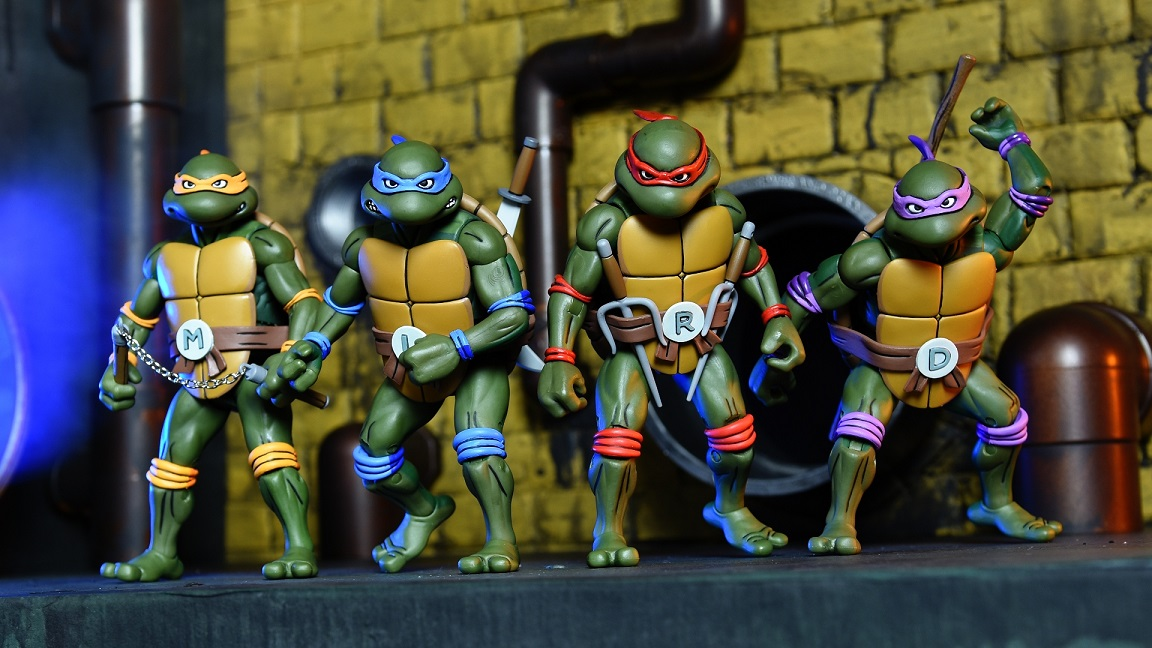 0d0621879 SDCC 2017 Exclusive Teenage Mutant Ninja Turtles Classic Cartoon Action  Figure Box Set by NECA