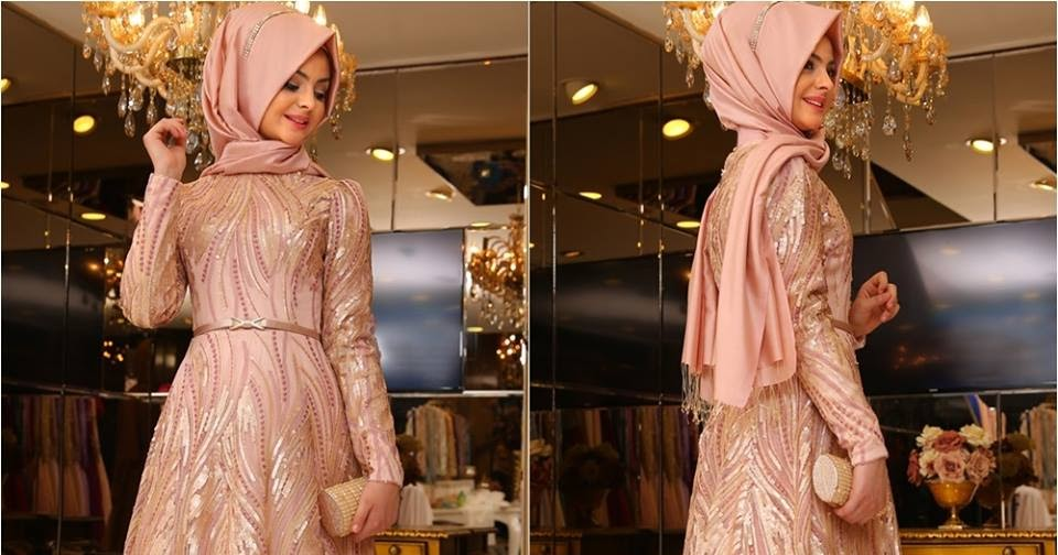 Robe hijab chic pour soirée 2016 , 2017