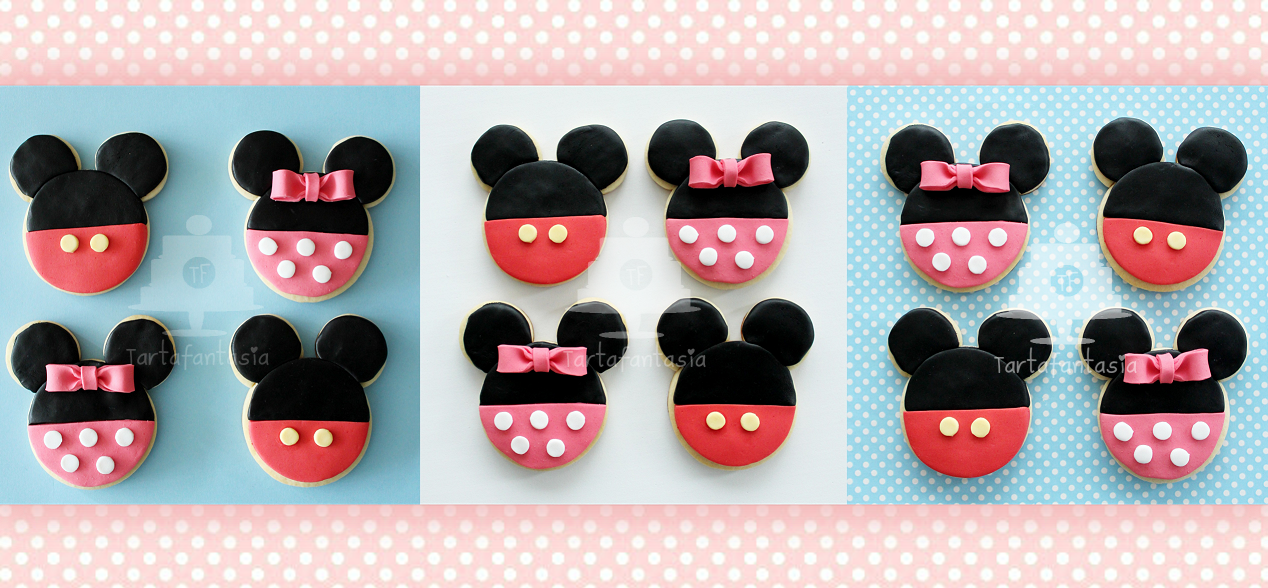 Paso a Paso Galletas de Mickey y Minnie Mouse - TartaFantasía