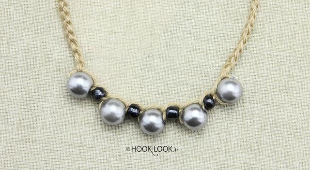 Crocheter des perles sur une chainette