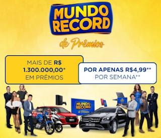 Cadastrar Promoção Mundo Record de Prêmios Mais de 1 Milhão e 300 Mil em Prêmios - Assinar