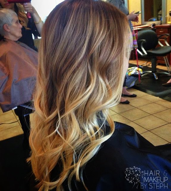 See more Ahhh Ombre hair is so cool. But it definitely looks better with long hair. Shawnee Bayes you should do it! It would look really pretty!  http://www.womensandmenshairstyle.net/