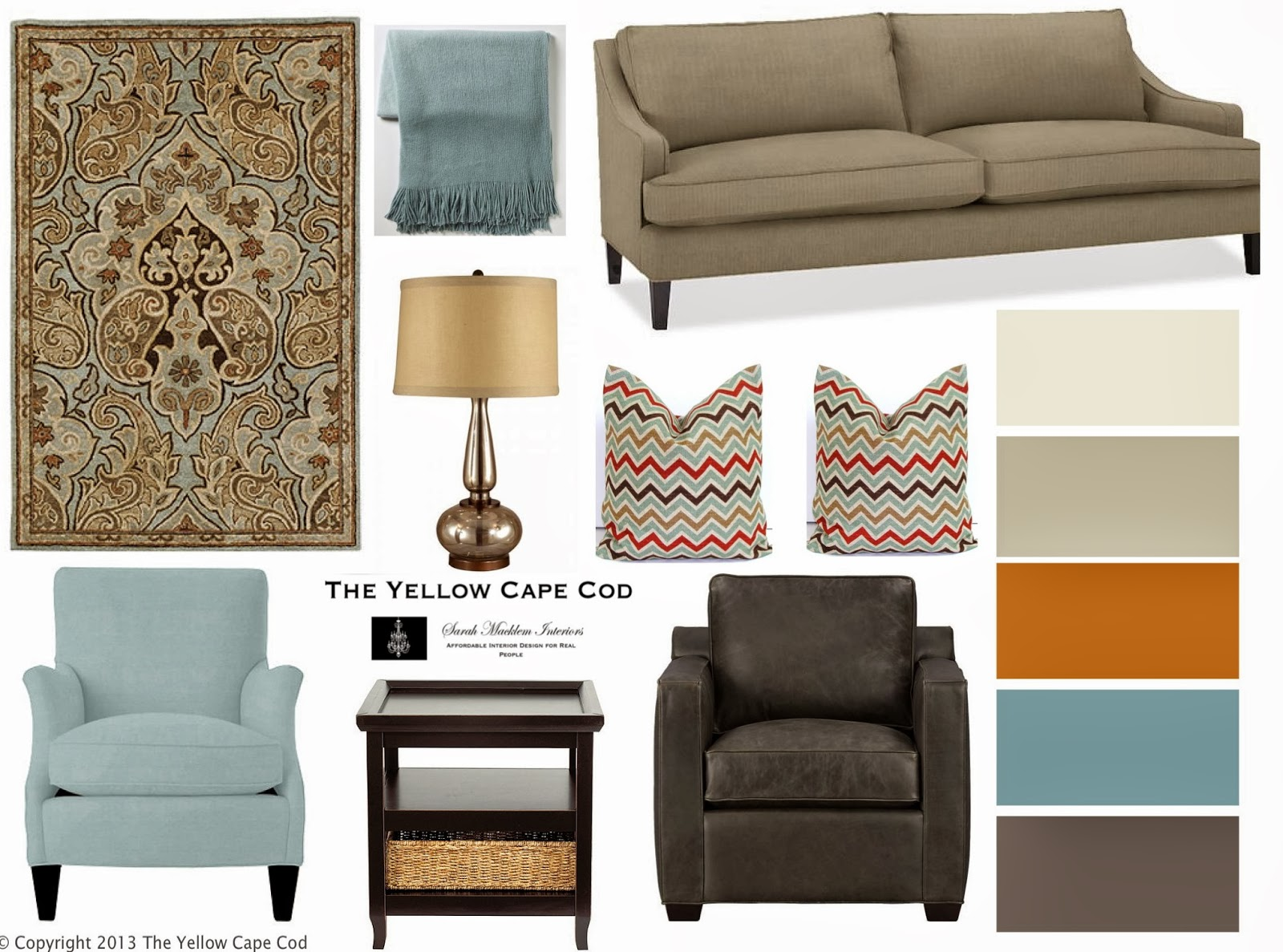 The Yellow Cape Cod His And Her Chairs How To Mix Furniture Styles