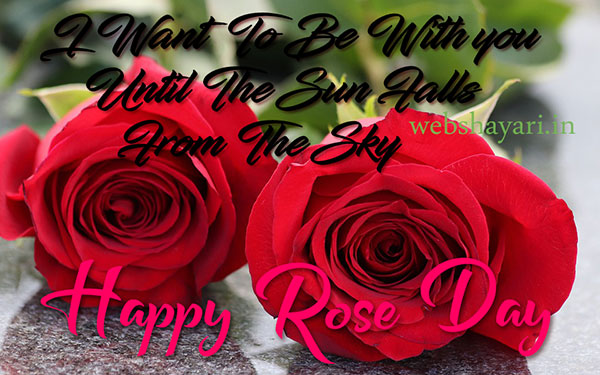 two rose image with quote