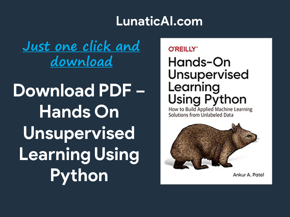 Hands-On Unsupervised Learning Using Python PDF Download