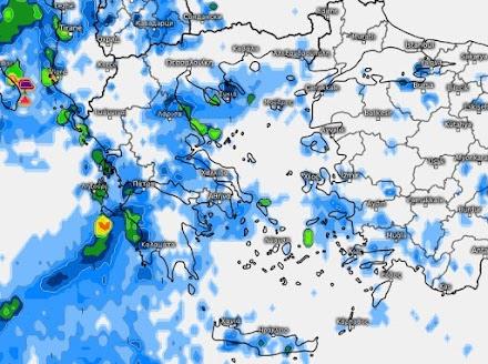 Meteo24news: Επιδείνωση του καιρού την Δευτέρα-Αναλυτική πρόγνωση