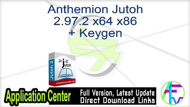 Anthemion Jutoh 2.97.2 x64 x86 + Keygen