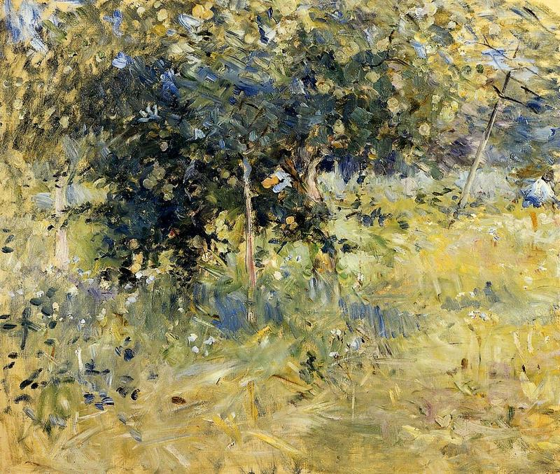 Willows in the Garden at Bougival. Berthe Morisot · 1884