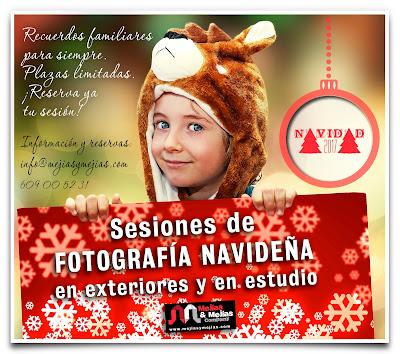 Fotografía de Navidad para niños en exteriores y en estudio
