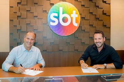 José Roberto Maciel, CEO do SBT, ao lado de Dony De Nuccio (Crédito: Gabriel Cardoso/SBT)