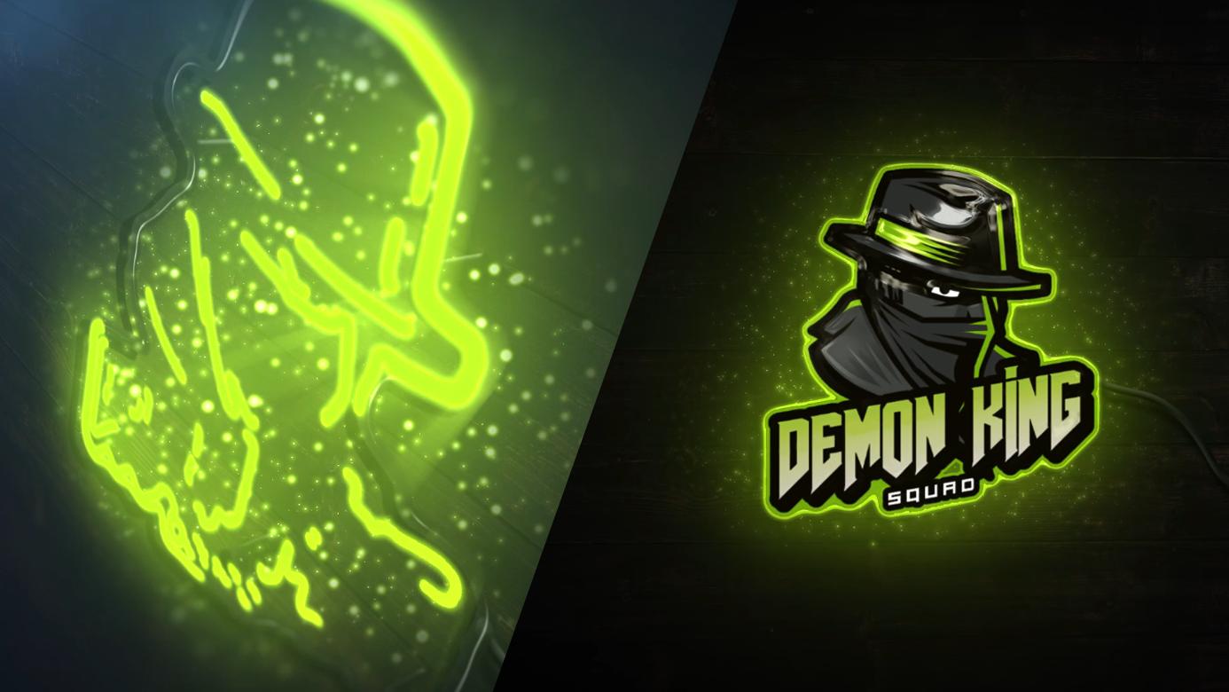 Jasa Pembuatan Bumper Video Gamers Neon Demond King