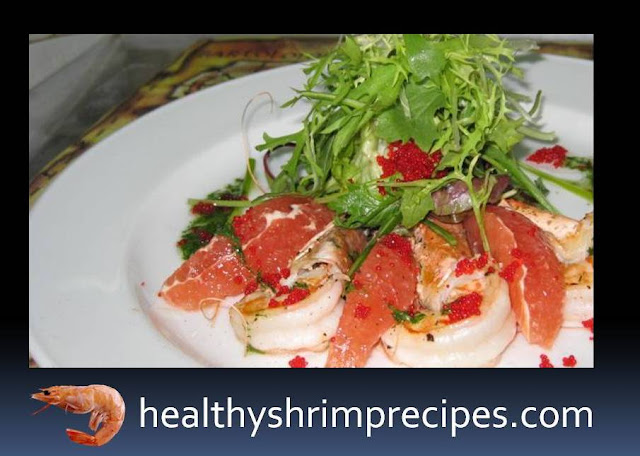 Healthy Salad With Shrimps And Oranges