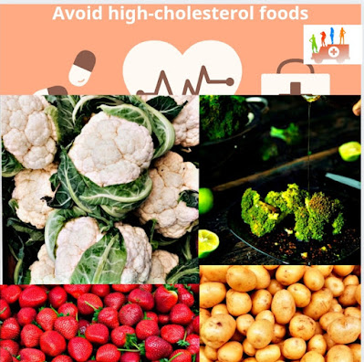 Avoid high-cholesterol foods