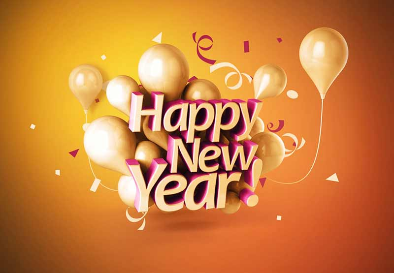 happy new year balloon images wishes