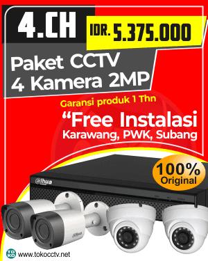 PAKET CCTV 4 KAMERA + INSTALASI | GARANSI PRODUK 1 TAHUN