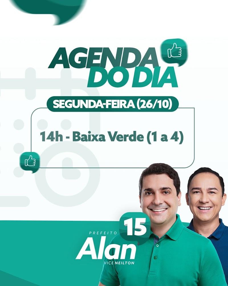 Alô Apodi: Hoje estaremos visitando as comunidades de Baixa Verde I a IV, às 14h.