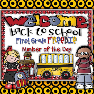 First Grade Back to School Number of the Day FREEBIE