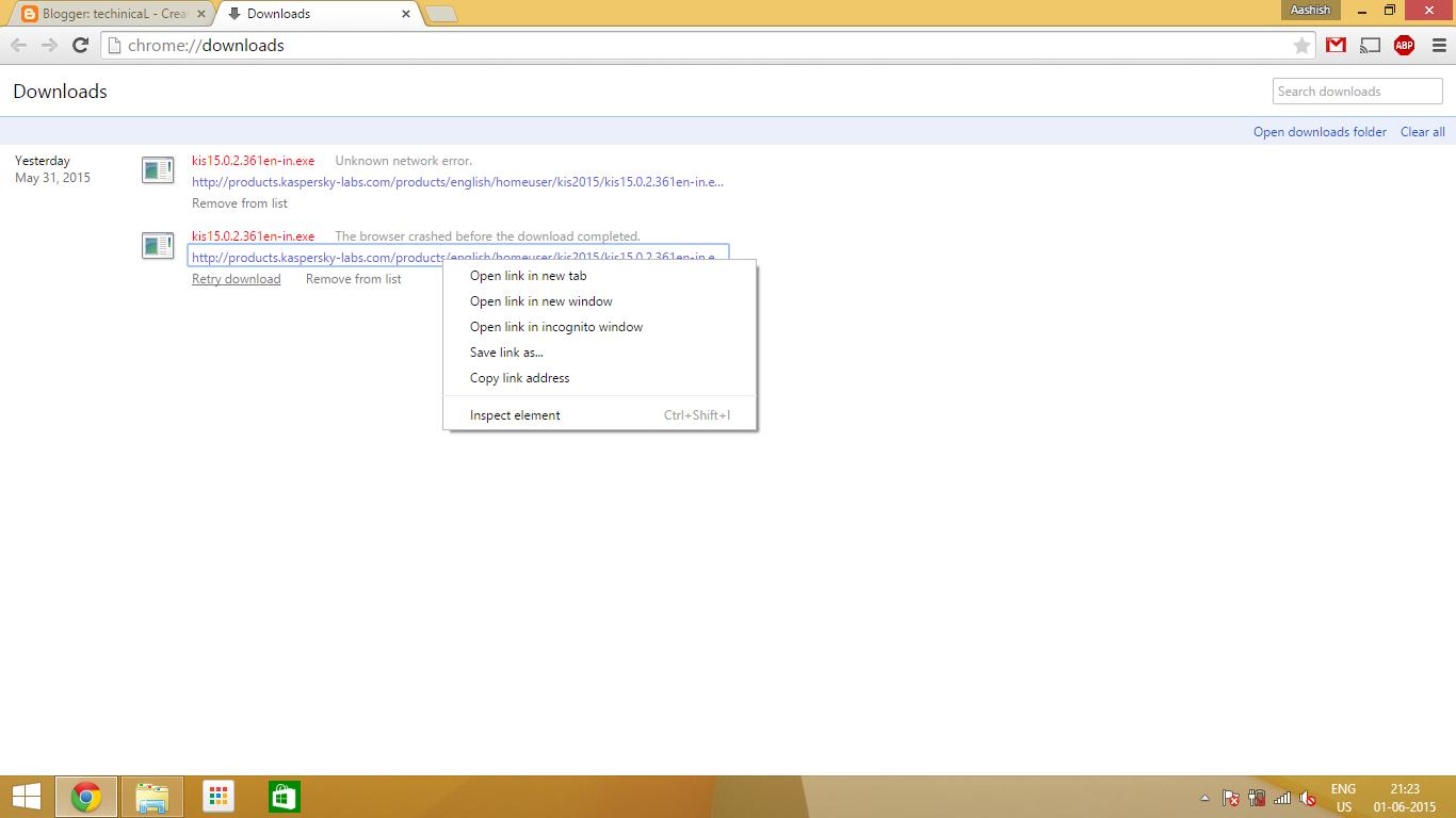 resume download after network error chrome