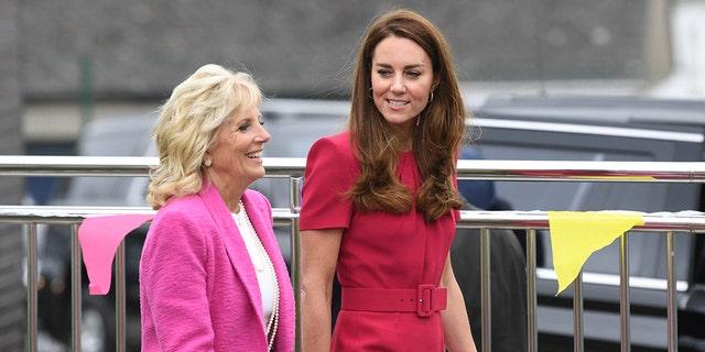 Spotkanie księżnej Kate z Pierwszą Damą Stanów Zjednoczonych, Jill Biden