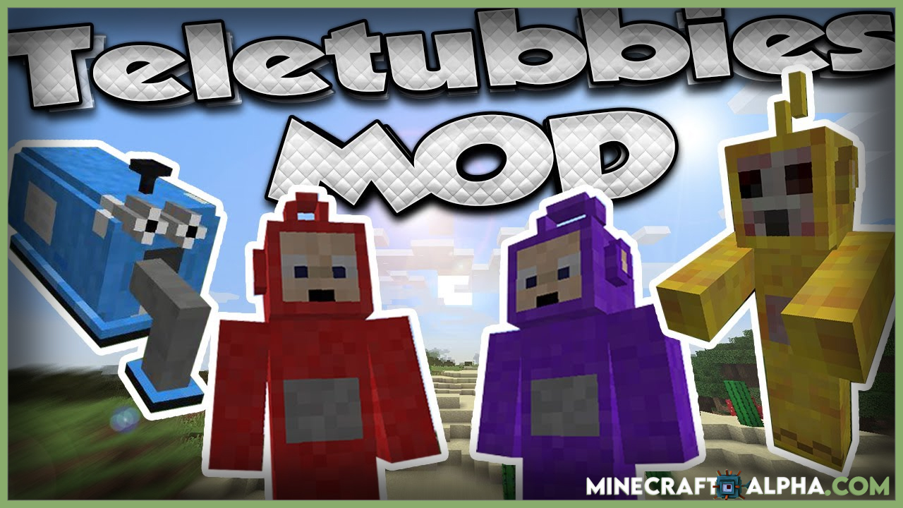 Minecraft Teletubbie Mod For 1.17.1 To 1.16.5 (Po, Dipsy And Tinky Winky)