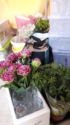 Blumendekoration 40. Geburtstag