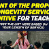 Amount of the proposed Longevity Service Incentive for Teachers based on the Length of Service