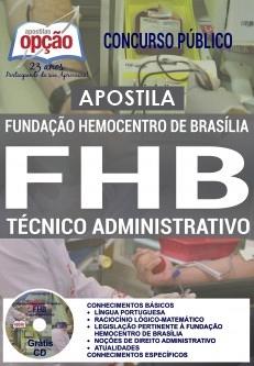 Apostila FHB DF 2017 Técnico Administrativo