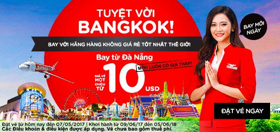 Bay rẻ từ Đà Nẵng đi Bangkok cùng khuyến mãi  Air Asia