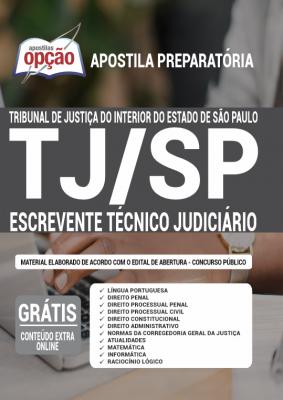 Apostila Concurso TJ SP 2021 PDF Edital Online Inscrições