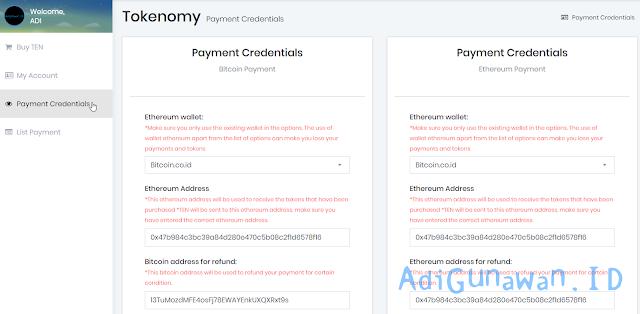 Cara Membeli Tokenomy (TEN) dengan Bitcoin