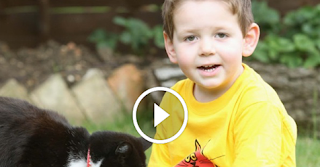 Concerned Kitty Walks Little Boy To School Everyday To Help Him Overcome His Anxiety!