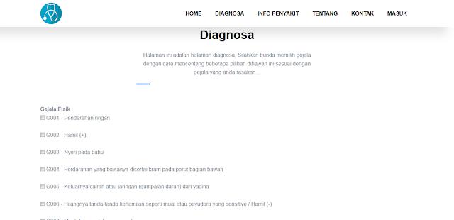 Sistem Pakar Metode CF pada Diagnosa Penyakit Ibu Hamil